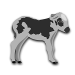 Calf grayscale vector graphics