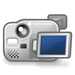 Vector image of back of digital camera with screen