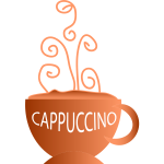 Vector image of cup of hot drink