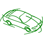 Sketch of a modern car