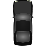 Black car vector illustration
