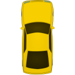 Top view car vector