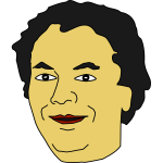 Vector illustration of mid-aged man avatar