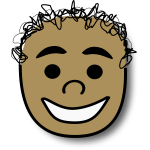 Vector image of happy kid avatar
