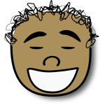 Vector image of laughing kid avatar