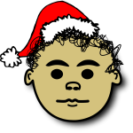 Santa Claus boy with curly hair vector