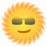 Mr. Sun vector image