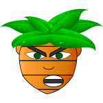 Carrot man's head