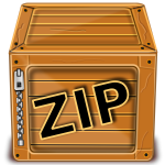 Vector graphics of wooden box with zipper