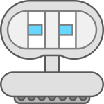 Robot icon cartoon style