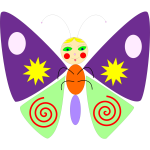 Colorful butterfly vector graphics