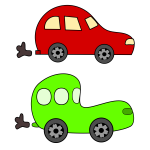 Vector image of cartoon cars