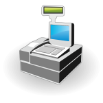 Vector icon of cash register