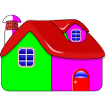 Vector graphics of colorful shiny house