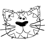 Cat Line Art Vector