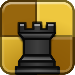 Vector drawing of chess category logo