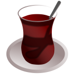 Vector of a Turkish tea