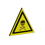 Dangerous chemical sign vector image