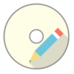 CD-ROM and pencil vector clip art