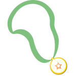 Simple medal on a band vector clip art
