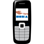 Vector illustration of Nokia phone