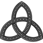 Vector image of simple Celtic design detail in grayscale