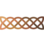 2D Celtic knot in brown shades vector graphics