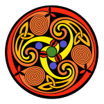 Celtic multicolor ornament vector image