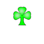 Simple green clover vector graphics