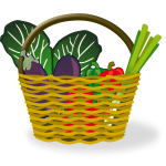 Shopping basket vector illustration