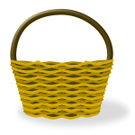 Empty shopping basket vector image