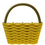 Empty shopping basket vector drawing