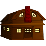 Halloween horror house vector clip art