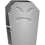 Vector image of angry Halloween tombstone