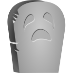 Vector clip art of Halloween tombstone