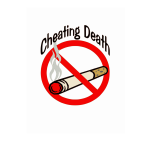 Cheating death slogan vector clip art