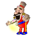 Circus chef vector drawing