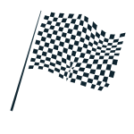 Checkered flag icon vector image