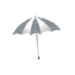 Chequered umbrella vector illustration