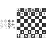 chess set design for postal chess