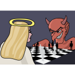 Demon vs angel chess game