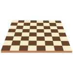 Brown checker board