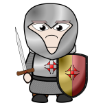 Cartoon knight image
