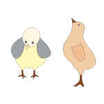 Vector graphics of two chickens