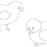chickens-vector-coloring