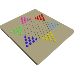 Chinese checkers game board vector image