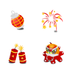 Chinese new years icon set