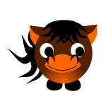 Vector image of horse