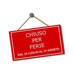Italian red ''closing '' sign