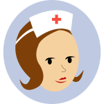 Nurse head logo vector illustration